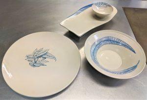 Les peces que es faran servir al Parant Taula que ha fet LUR per al plat  del Sa Punta.