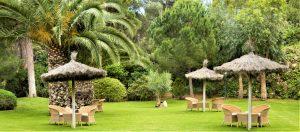 Grans espais oberts en plena natura, així són els jardins de l'Hotel Sa Punta i el seu restaurant gastronòmic